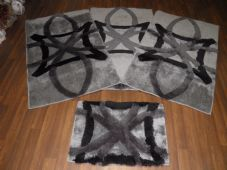 ROMANY GYPSY WASHABLES GERMAN STYLES TRAVELLERS MATS THICK SETS OF 4PCS GREYS